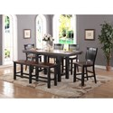 Winners Only Carson Counter Height Dining Set - Item Number: DFCT13678+6x45024