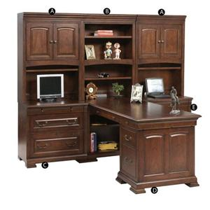 Winners Only Classic 6 Piece Desk Unit
