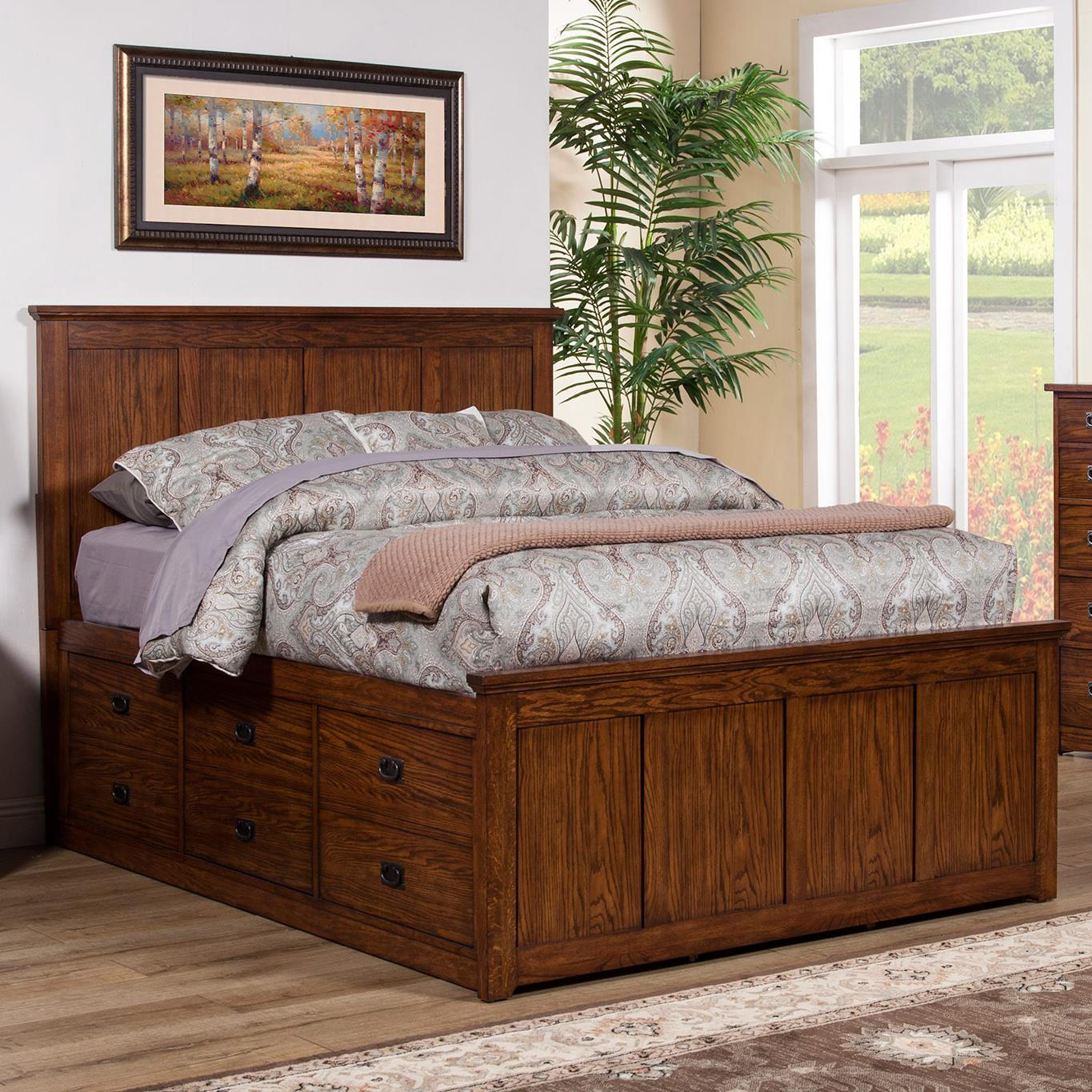 hanover product beds storage value mattresses with bedroom cherry city drawers furniture item bed queen and