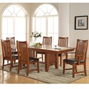 Winners Only Colorado 7 Piece Dining Set - Item Number: DCQ14296N+2x51A+4x51S