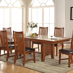 """Trestle Table with 18"""" Leaf"""