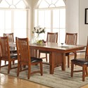 "Winners Only Colorado Trestle Table with 18"" Leaf - Item Number: DCQ14296N"