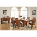 Winners Only Colorado Trestle Table with 18