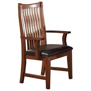 Raised Slat Back Arm Chair