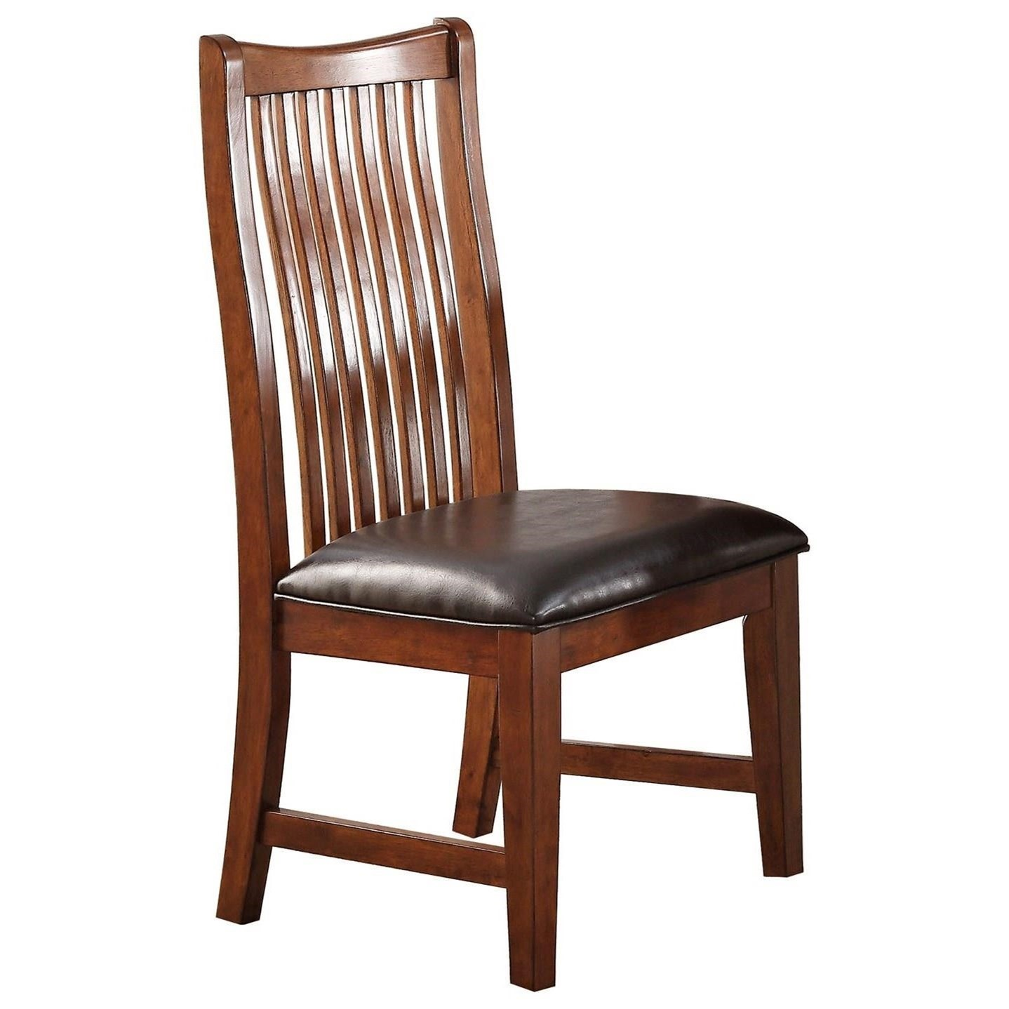 Raised Slat Back Side Chair