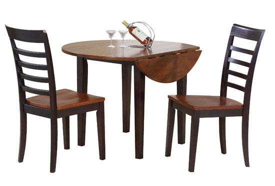 Winners Only Contemporary Farmhouse 3 Piece Drop Leaf Table and Chair Set - Item Number: DF24242CX+2x2551CX