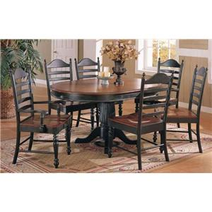 Winners Only Cottage 8 Piece Single Pedestal Table & Chair Set