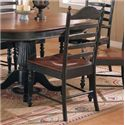 Winners Only Cottage 8 Piece Single Pedestal Table and Ladderback Chairs - Ladderback Side Chair