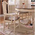 Winners Only Cottage 8 Piece Single Pedestal Table and Sheaf Back Chair Set - Sheaf Back Arm Dining Chair