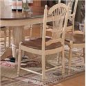 Winners Only Cottage 8 Piece Single Pedestal Table and Sheaf Back Chair Set - Sheaf Back Side Dining Chair