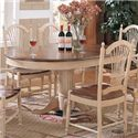 Winners Only Cottage 8 Piece Single Pedestal Table and Sheaf Back Chair Set - Single Pedestal Table