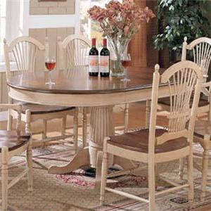 Winners Only Cottage Single Pedestal Dining Table