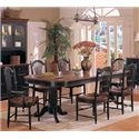 Winners Only Cottage 8 Piece Double Pedestal Table and Chair Set - Item Number: DC4296CE+2xDC551ACE+4xSCE