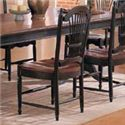 Winners Only Cottage 8 Piece Double Pedestal Table and Sheaf Back Chair Set - Sheaf Back Side Dining Chair