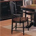 Winners Only Cottage 8 Piece Double Pedestal Table and Sheaf Back Chair Set - Sheaf Back Arm Dining Chair