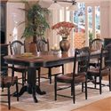Winners Only Cottage 8 Piece Double Pedestal Table and Sheaf Back Chair Set - Double Pedestal Table