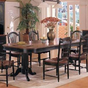 Winners Only Cottage Double Pedestal Dining Table - Item Number: DC4296CE