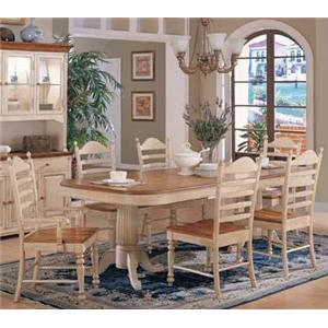 Winners Only Cottage 8 Piece Double Pedestal Table and Chair Set