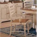 Winners Only Cottage 8 Piece Double Pedestal Table and Ladderback Chair Set - Ladderback Arm Dining Chair