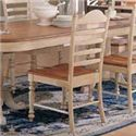 Winners Only Cottage 8 Piece Double Pedestal Table and Ladderback Chair Set - Ladderback Side Dining Chair