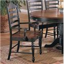 Winners Only Cottage Ladderback Arm Chair - Item Number: DC550ACE