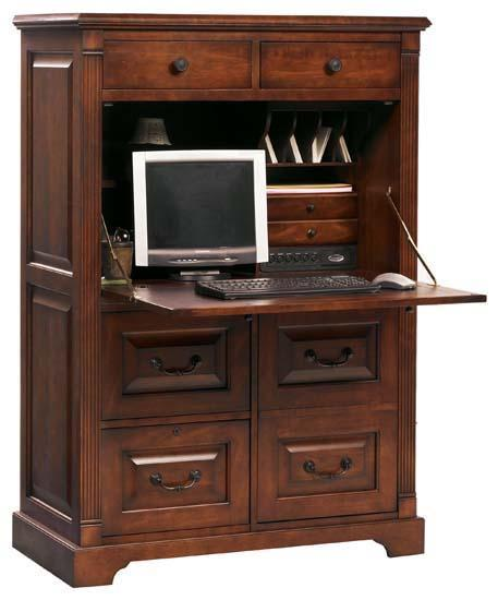 Winners Only Country Cherry Computer Armoire with Drop ...