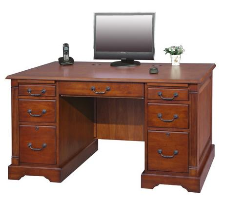 "Winners Only Country Cherry 57"" Flat Top Desk - Item Number: K157F"