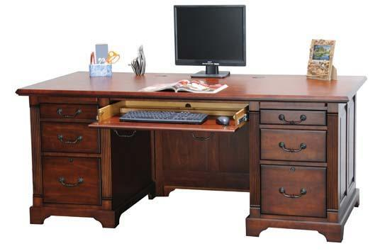 "Winners Only Country Cherry 72"" Flattop Desk - Item Number: K172F"