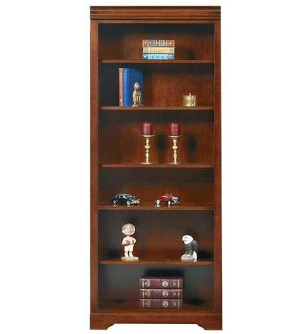 "Winners Only Country Cherry 32"" Open Bookcase - Item Number: KM132BR"