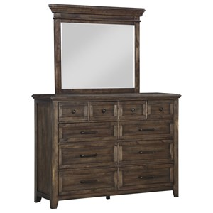 10-Drawer Dresser and Mirror Set