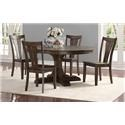Winners Only Daphne Table & 4 Chairs - Item Number: DD34866+4xDD3450S