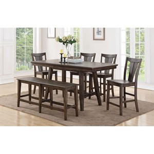 Winners Only Daphne Counter Height Dining Table Set With Bench
