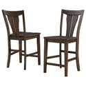Winners Only Daphne Counter Height Fan Back Stool - Item Number: DDT345024
