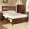 Winners Only Del Mar King Storage Bed  - Item Number: BDC1001KS