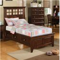 Winners Only Del Mar Full Storage Bed - Item Number: BDC1001FS