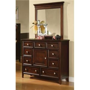 Winners Only Del Mar Del Mar 9-Drawer Dresser & Mirror