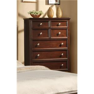Winners Only Del Mar Del Mar Chocolate 6-Drawer Chest