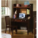 Winners Only Del Mar 3-Drawer Desk and Hutch with Bulletin Board - Shown with Desk Chair.
