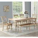 Winners Only Devonshire Table And Chair Set With Bench - Item Number: DD44078H+4x50SH+55H