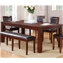 Winners Only Fallbrook Leg Table with Butterfly Leaf - Item Number: DFM14284