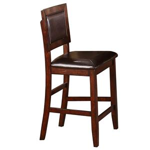 Cushioned Back Counter Height Barstool
