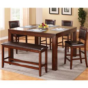 Winners Only Fallbrook 6 Piece Counter Height Dining Set