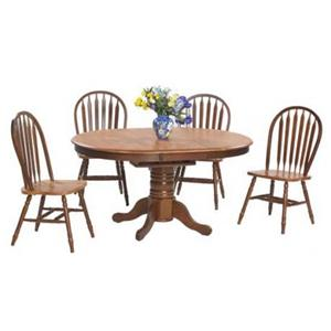 Winners Only Farmhouse 5 Piece Oval Dining Table and Side Chairs