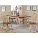 Winners Only Farmington 5 Piece Dining Set - Item Number: DF53660W+4x19SW