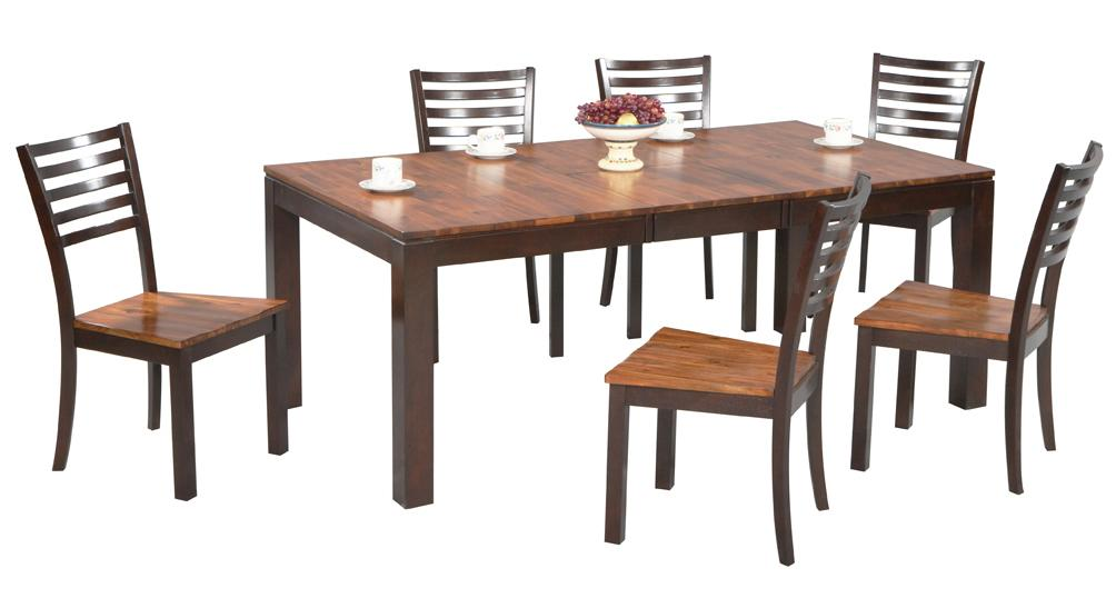Winners Only Fifth Avenue 7 Piece Dining Table and Chair Set - Item Number: DFA4278+6xDFA450S
