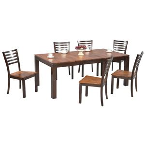 Winners Only Fifth Avenue 7 Piece Dining Table and Chair Set