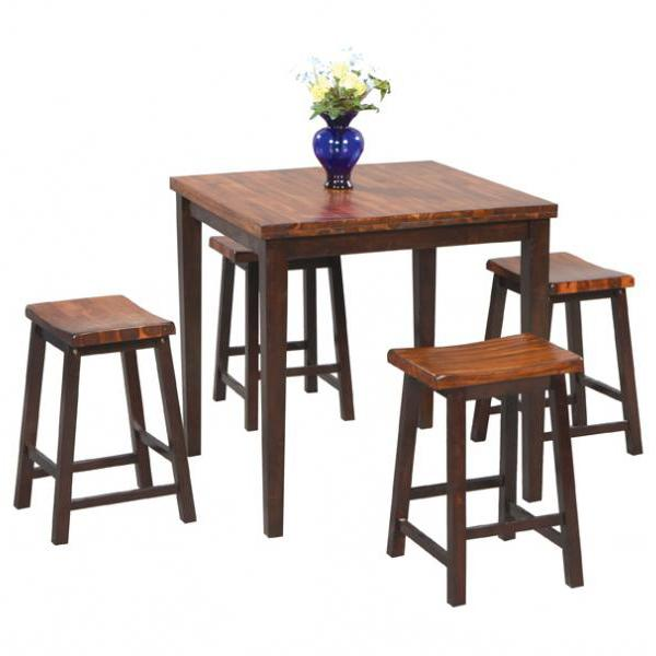Winners Only Fifth Avenue 5 Piece Tall Table and Barstool Set - Item Number: DFA53636