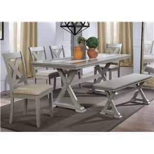 Winners Only Florence 6 Piece Dining Set with Bench
