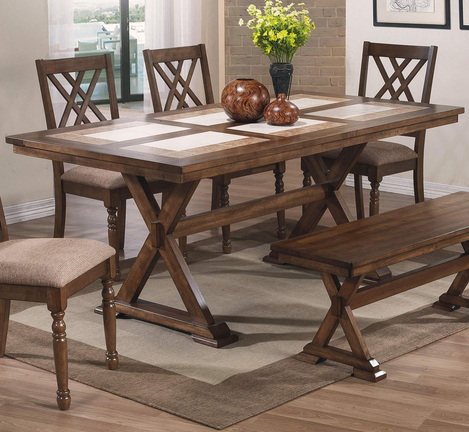 "Winners Only Florence 72"" Tile Table - Item Number: DF13672M"