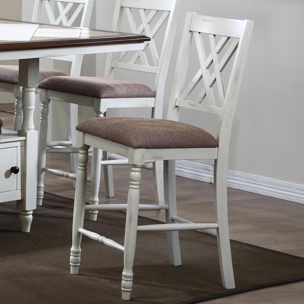 Winners Only Florence  Double X Back Barstool - Item Number: DF145124P